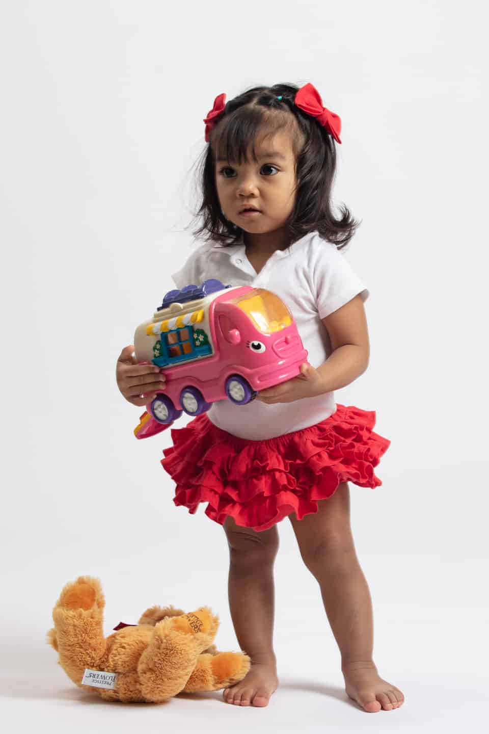 Mea Full Ruffle Bloomers Red